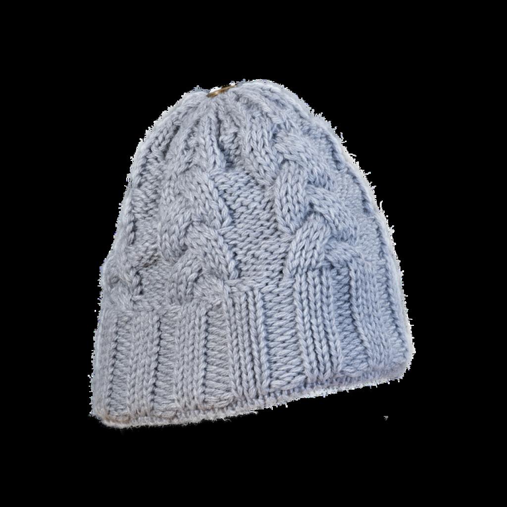 Mütze Gablonz (Wolle hellgrau 902)