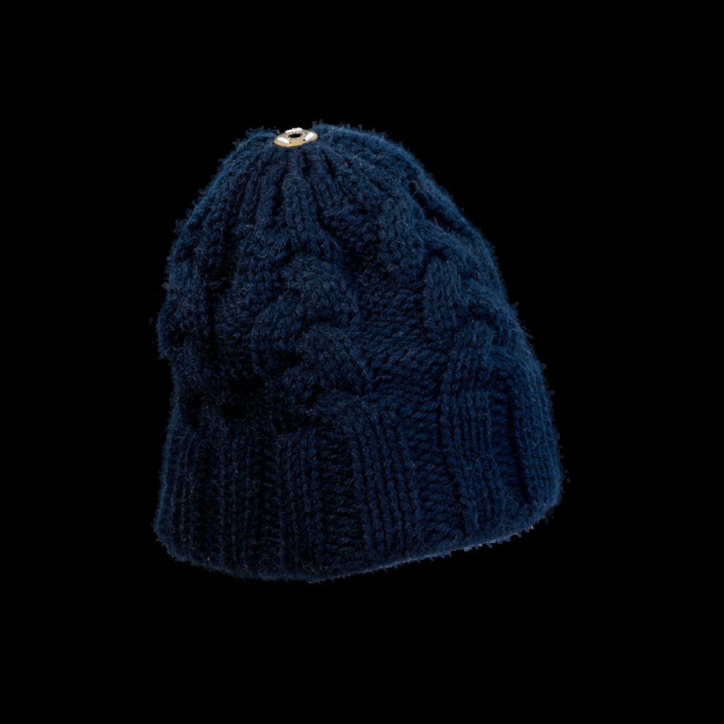 Mütze Gablonz (Wolle dunkelblau 506)
