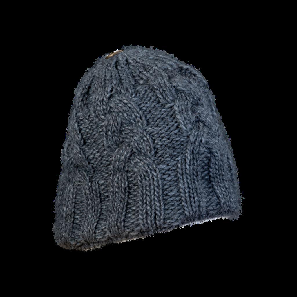 Mütze Gablonz (Wolle dunkelgrau 906)
