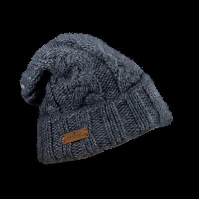 Mütze Gablonz U lang (Wolle dunkelgrau 906)