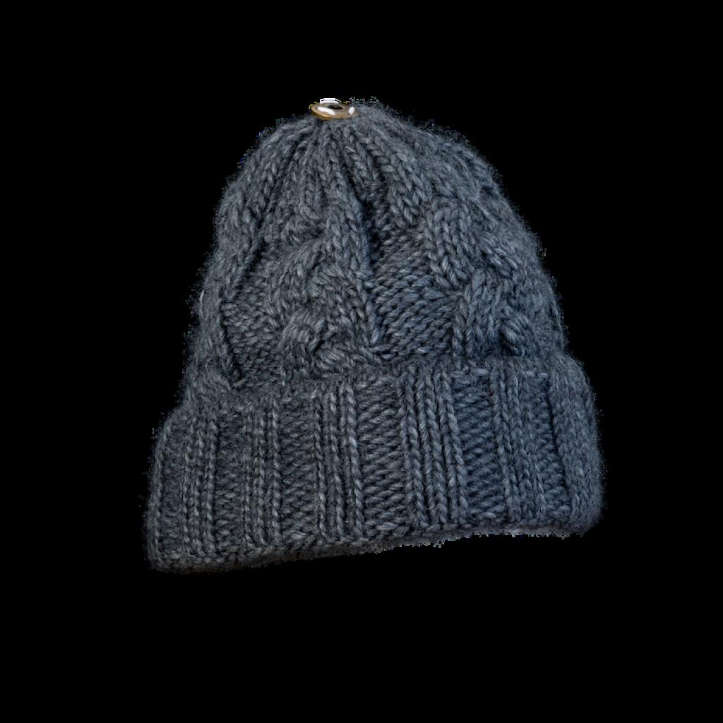 Mütze Gablonz U short (Wolle dunkelgrau 906)