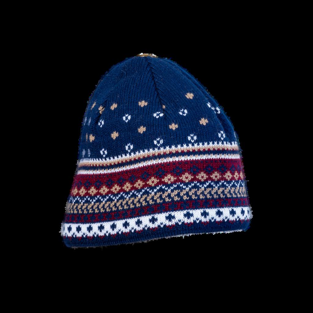 Mütze Stam (Wolle dunkelblau/bunt 507)