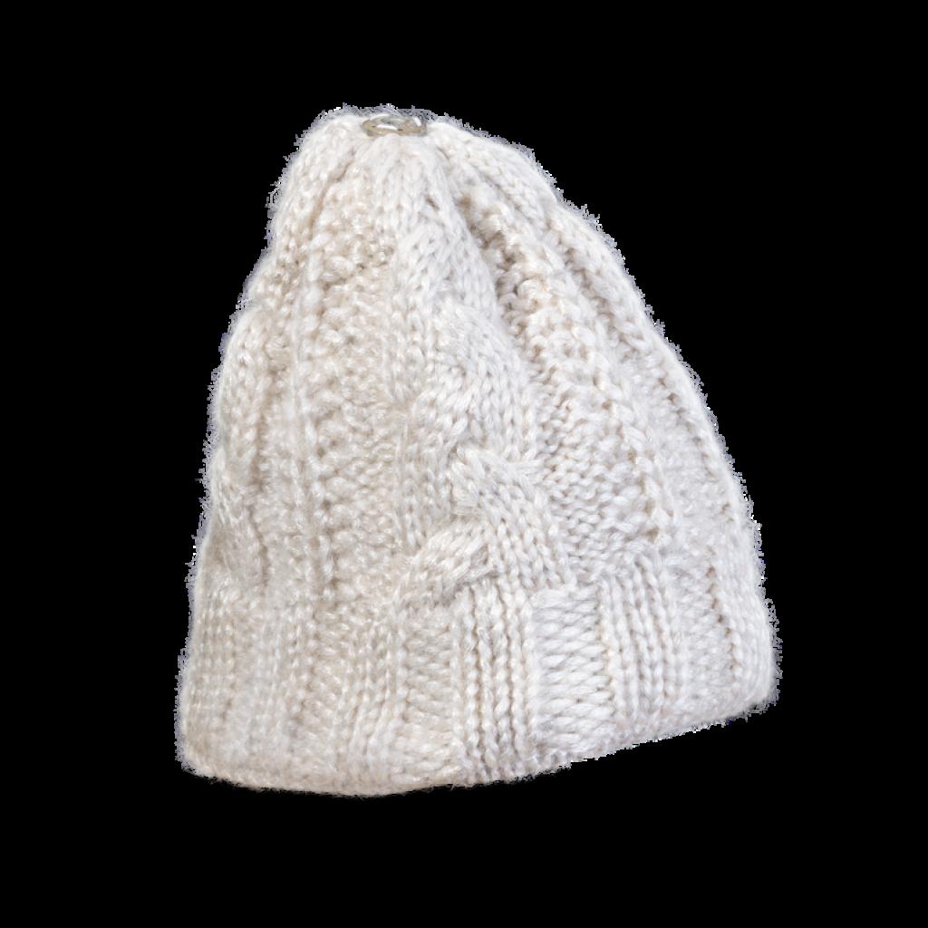 Mütze Jablonec (Wolle weiß metalisé 120)