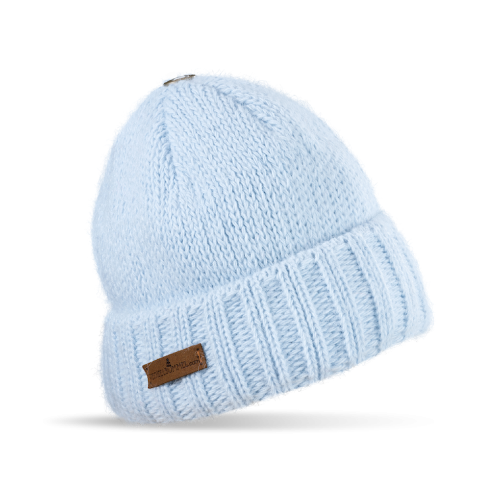 Mütze Liebenau (Wolle hell blau 502)