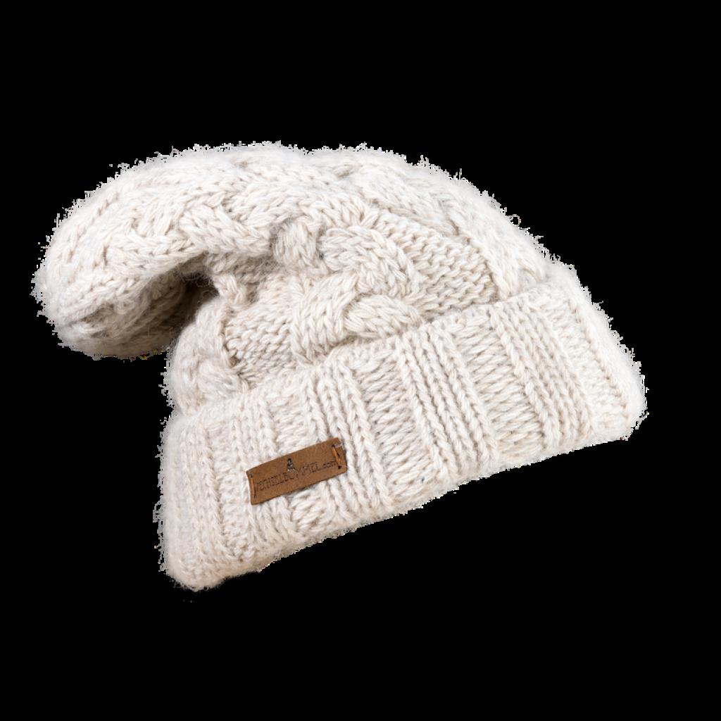 Mütze Gablonz U lang (Wolle ecru 206)