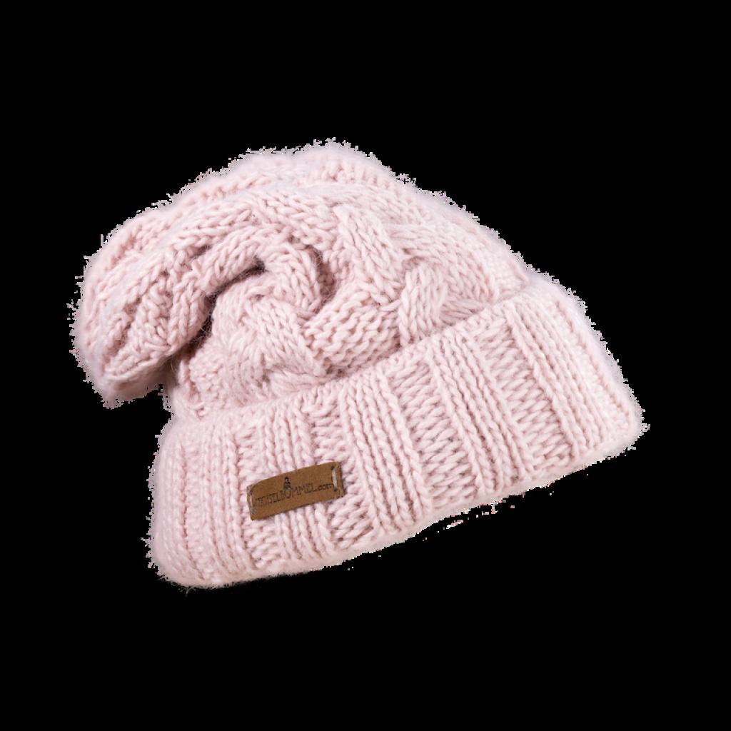 Mütze Gablonz U lang (Wolle rosé 202)