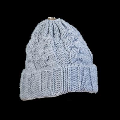 Mütze Gablonz U (Wolle hell grau 902)