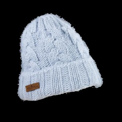 Mütze Gablonz U (Wolle hell blau 501)