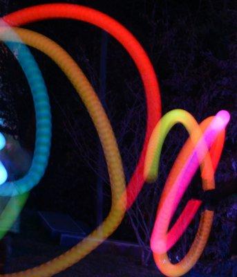 Kunststoff-Poi Leucht Ball (2 Leuchtbälle)