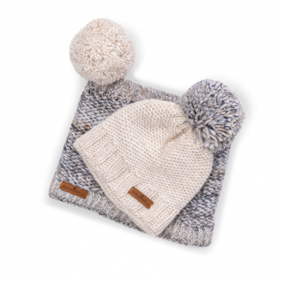 Set Donovaly short (Wolle 206 ecru/Wolle 209 beige)