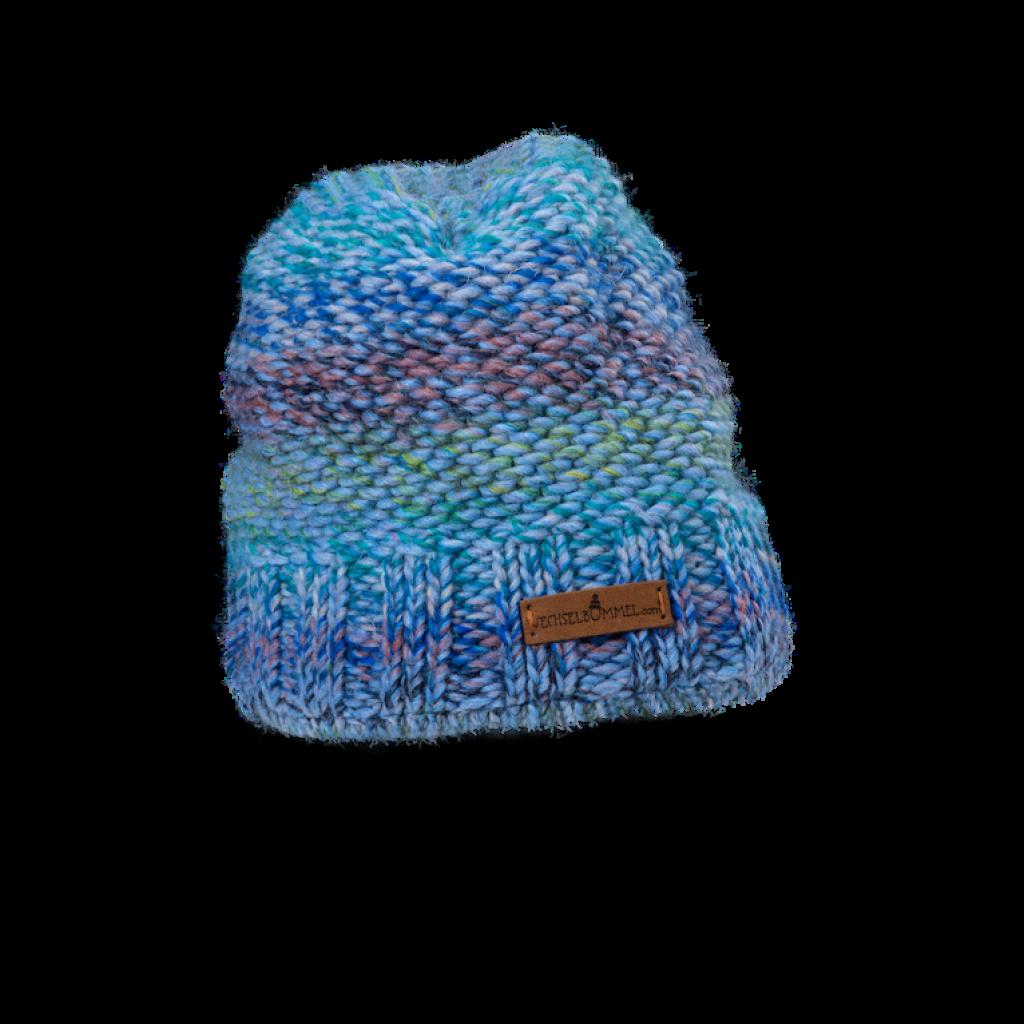 Mütze Donovaly short (Wolle blau melange 502)