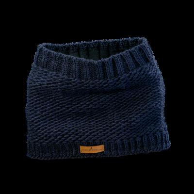 Tunnel Schal (Wolle 506 dunkelblau)