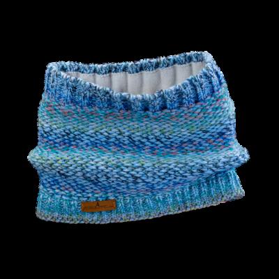 Tunnel Schal (Wolle 502 blau melange)