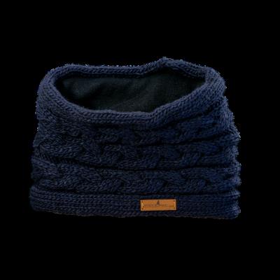 Tunnel Schal Q (Wolle 506 dunkelblau)